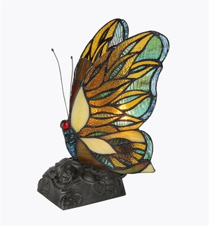 Tiffany-Styled Striking Butterfly Accent Lamp by Chloe Lighting