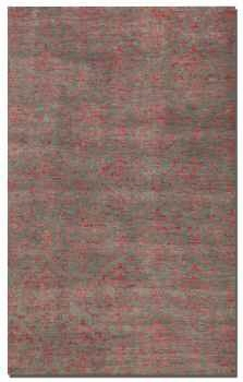 Tikapur 8' Rug in Weathered Grey Accented with Shades of Rose Brand Uttermost