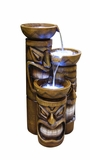 Tiki Fountain w/ LED Lights by Alpine Corp