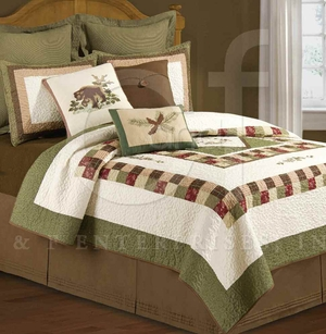 Timber Grove Twin Quilt with 100% Cotton and Cotton Fill Brand C&F