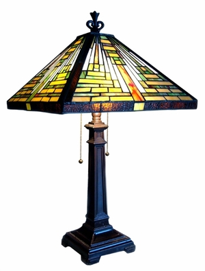 Timeless and Cool Mission Table Lamp by Chloe Lighting