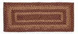 Timeless Burgundy Tan Jute Rug/Runner Rect by VHC Brands