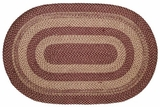 Timeless in Appeal Burgundy Tan Jute Rug Oval by VHC Brands
