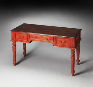 Timeless Persimmon Painted Wood Writing Desk by Butler Specialty