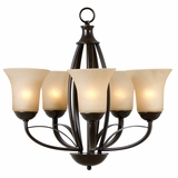 Tioga Pass Adorable 5 Lights Chandelier in Oil Rubbed Bronze by Yosemite Home Decor