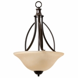 Tioga Pass Beautifully Designed 3 Light Pendantin Oil Rubbed Bronze by Yosemite Home Decor