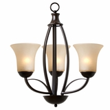Tioga Pass Enthralling 3 Light Chandelier in Oil Rubbed Bronze by Yosemite Home Decor