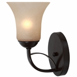Tioga Pass Exclusively Styled 1 Light Wall sconce in Oil Rubbed Bronze by Yosemite Home Decor