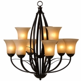 Tioga Pass Gorgeously Styled 9 Lights Chandelier in Oil Rubbed Bronze by Yosemite Home Decor