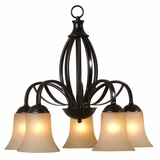 Tioga Pass Smartly Styled 5 Lights Chandelier in Oil Rubbed Bronze by Yosemite Home Decor