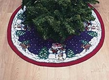 Toasty Snowman Themed Wrap Around Christmas Holiday Tree Skirt Brand C&F