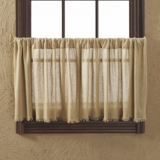 Tobacco Cloth Khaki Tier Fringed Set of 2 L24xW36