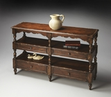 "Tobacco Leaf Sofa/Console Table 50""W by Butler Specialty"