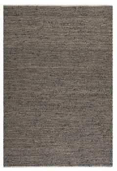 "Tobais 16"" Rug with Rescued Italian Leather and Natural Hemp Brand Uttermost"