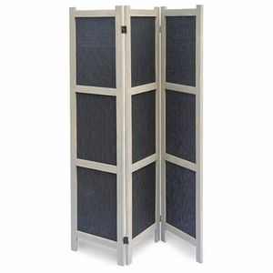 Tobin Fabric Solid Wood Frame Screen with Artistic Detailing Brand Screen Gem