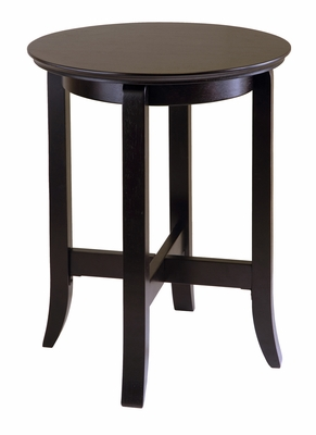 Toby End Table with Curved Legs by Winsome Woods