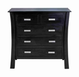 Top Notch Mahogany Wooden Chest with 5 Drawers for Modern Decor Brand Woodland