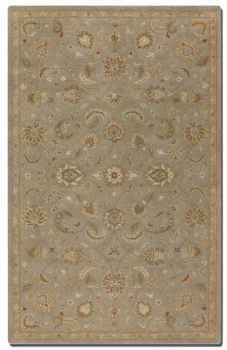 Torrente Light Grey 9' Rug with Beige and Olive Details Brand Uttermost