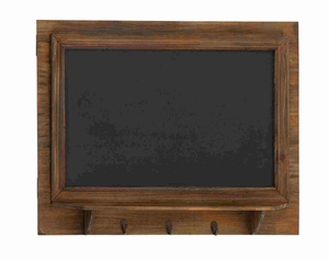 Toulouse Blackboard Wall Shelf Hook Exceptionally Antiqued Unit Brand Benzara