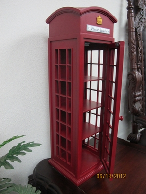 Tournai Mini Telephone Booth Display Case, Beautiful And Durable by D-Art
