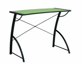 Trace Reversible Desk in Caliste Green and Black Top by Office Star