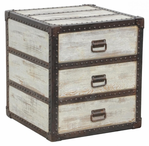 Traditional Chateau End Table with Three Storage Drawers