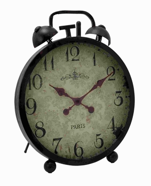 Traditional Designed Metal Clock with Ornate Clock Hands Brand Woodland