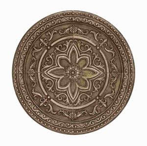 Traditional Designed Metal Wall Decor with Floral Engravings Brand Woodland