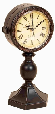 Traditional Metal Clock Crafted with Intricate Detailing Brand Woodland