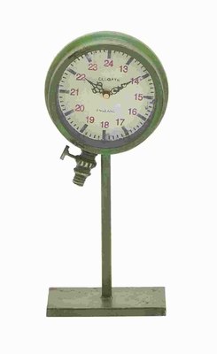 Traditional Metal Clock with Elegant Design and Rustic Finish Brand Woodland