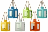Traditional Metal Lantern Assorted Set of Six Different Colors