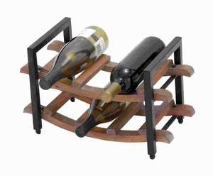 Traditional Sturdy Wooden Wine Rack with Natural Wood Finish Brand Woodland