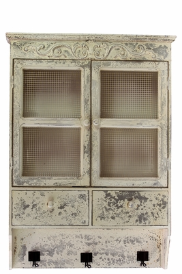 Traditional Style White Wooden Alluring Cabinet
