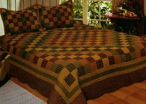 Traveler Quilt, Queen Size 90 Inch X 90 Inch, Handmade Cotton Quilts by American Hometex