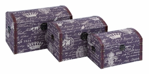 Traveling Chests - Treasure Chest Set With Paris Lifestyle Brand Woodland