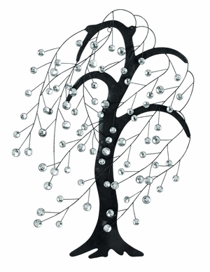 Tree Shaped Metal Acrylic Wall D�cor in Black, Silver and White Brand Woodland