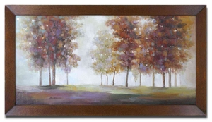 Trees In The Mist Framed Art with Bronze Undertone Brand Uttermost
