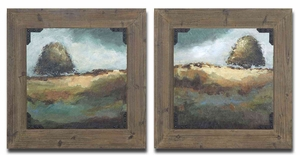 Trees Of Love Wood Tone Finish Framed Art - Set of 2 Brand Uttermost