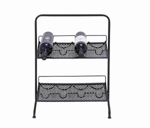 Trendy and Classy Metal Wine Rack Brand Benzara