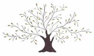 Trendy and Elegant Tree Designed Metal Wall Art Brand Benzara
