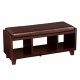 Trendy Capistrano Bench with Cushion and Storage Space by Southern Enterprises