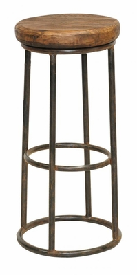 Trendy Round wooden Top Jaden Barstool