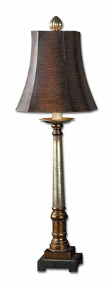 Trent Buffet Lamp Crafted with Bronze in Silver Brand Uttermost