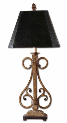 Trenton Iron Table Lamp with Crackled Detailing Brand Uttermost