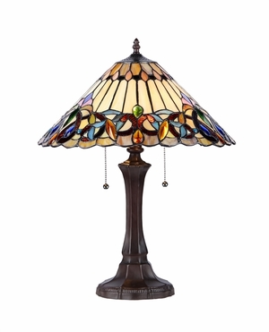 Triangular- Umbrella Styled Victorian Table Lamp by Chloe Lighting