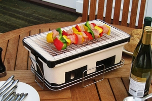 Trieste Charcoal Grill, Attractive And Adjustable Unit by Well Travel Living