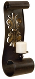 Trilogy Embossed Candle Holder Metal Wall Decor Sculpture Brand Woodland