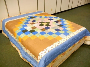 Trip to the world Queen Sized Quilt with 100% Poly Fill Feature by American Hometex