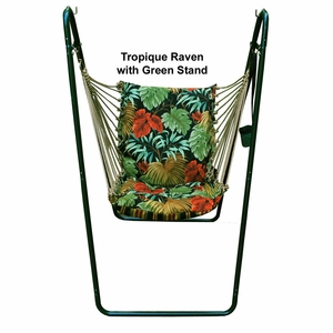Tropique Raven/ Lyndhurst Raven Swing Chair and Stand Combination by Alogma