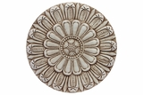 Truly Unique & Distinctive Round Shaped Cement Wall Decor Embellished w/ Beautiful Design in Sandstone